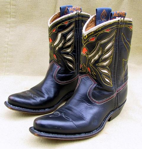 Vintage 1950s Acme Boy's Cowboy Boots 7 1 2 D | eBay