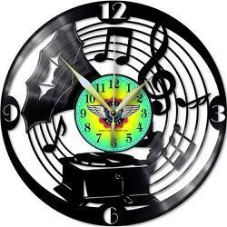 VINYL PLANET Wall Clock GRAMOPHONE