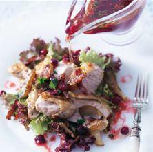 #Recept: Kerst Kalkoensalade met cranberrydressing http://ift.tt/2hptoQO #Voorgerechten