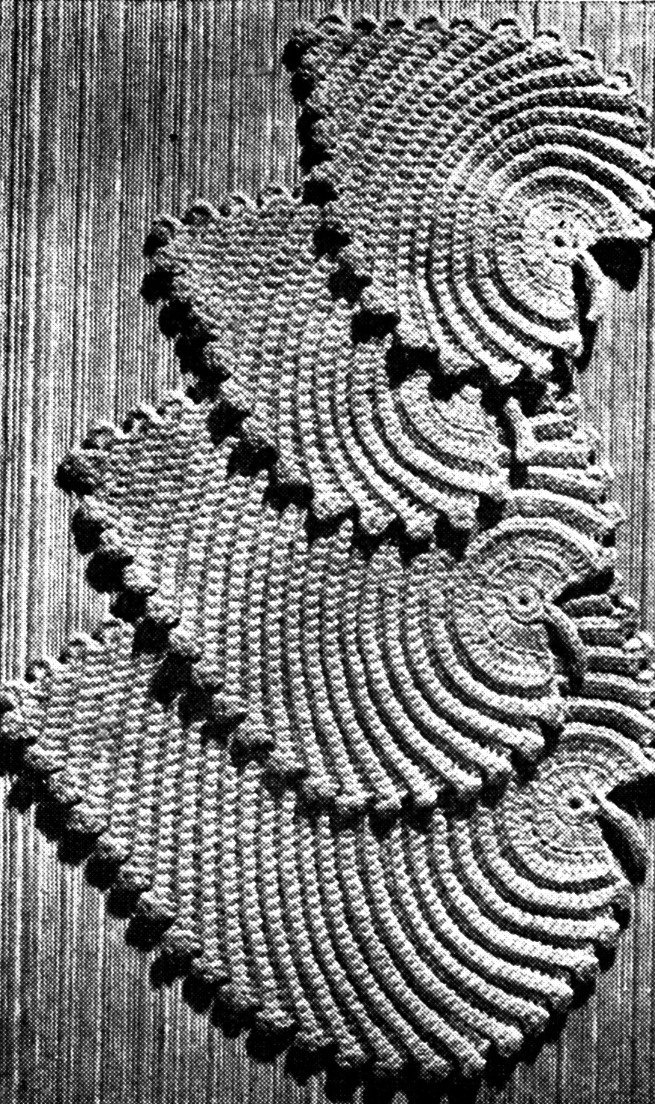 Vintage Leaf mats potholder Crochet pattern