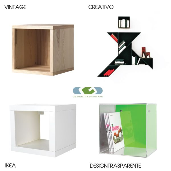 17 best arredi e complementi in plexiglass images on for Ikea mensole cubo