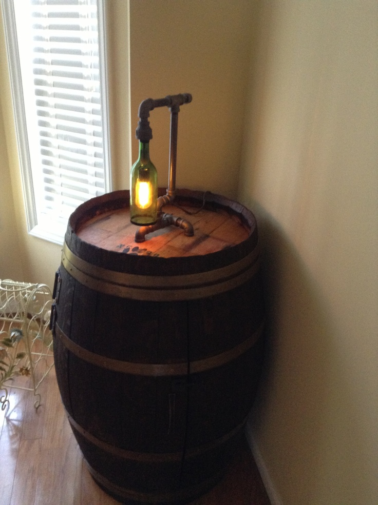 17 best images about next project wine bottle lamp on for Champagne bottle lamp