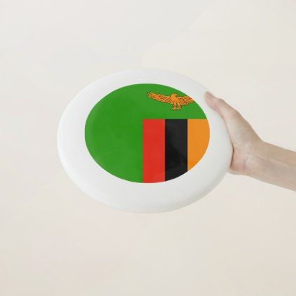 Zambia Flag Wham-O Frisbee - home gifts ideas decor special unique custom individual customized individualized