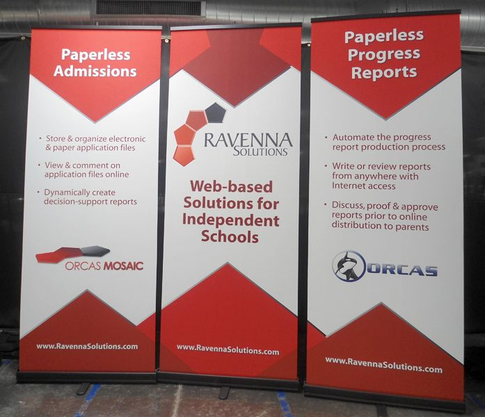 Color and matching patterns are great for trade show banners.