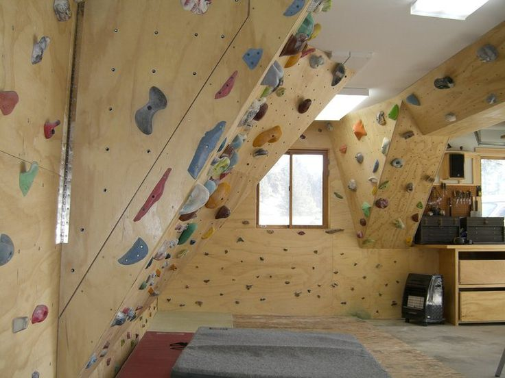 Home climbing wall attic