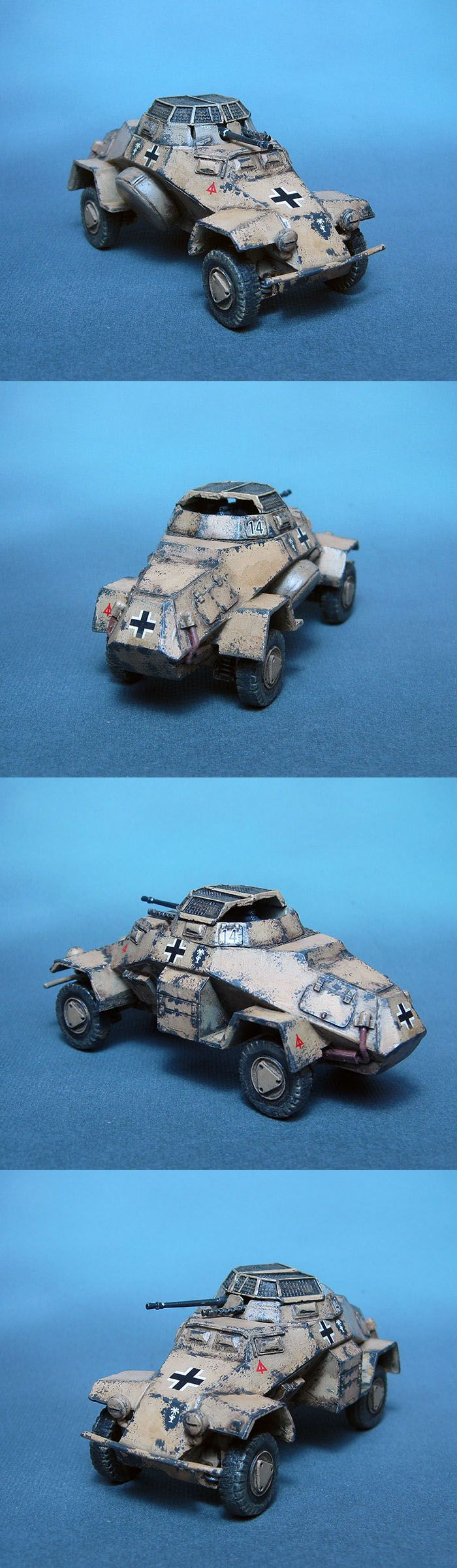 SdKfz 222 2cm Recce 15. PzD Afrika Korps Scale: 1/56(28mm) Manufacturer: Warlord Games UK Game: BOLT ACTION Painted by: OMP(Olsianon Miniatures Painting)