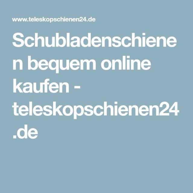 Schubladenschienen bequem online kaufen - teleskopschienen24.de