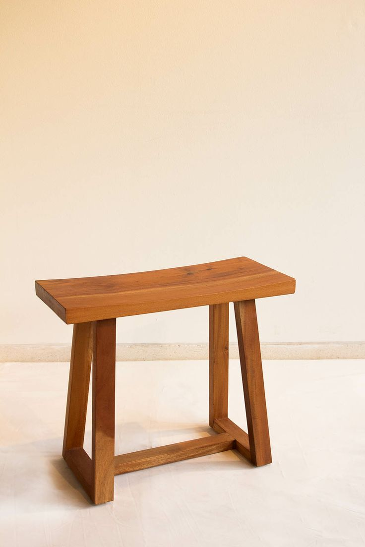 Our Yoto Stool wants to say hi  Yoto Stool made from solid mahoni with natural finishing. The size is 25cm x 55cm x height 45 cm