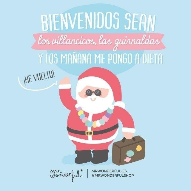 """""""Lo puedas creer o no... ¡La semana que viene ya estamos en Navidad! #mrwonderfulshop It's the time of year for carols, Christmas decorations and…"""""""