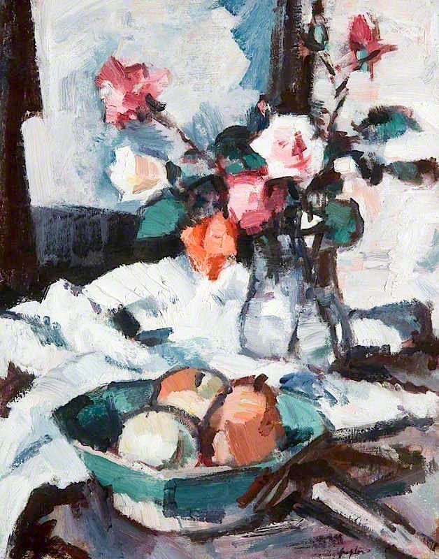 The Athenaeum - Roses (Samuel John Peploe - )