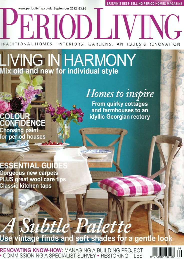 Period Living magazine September 2012 Featured: Classic dining table in dark reclaimed teak