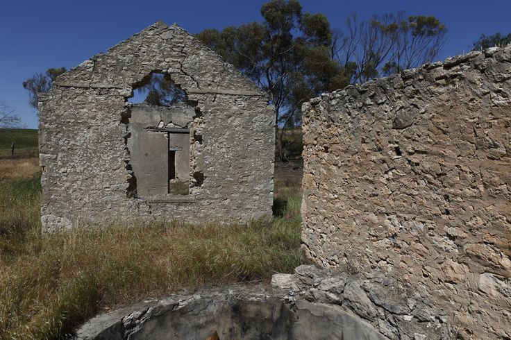Building remains near Mitre Lake, Victoria.