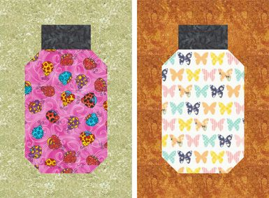 Bug Jar Quilt Block Pattern - love these blocks. With the right fabric can be awesome critter quilts.