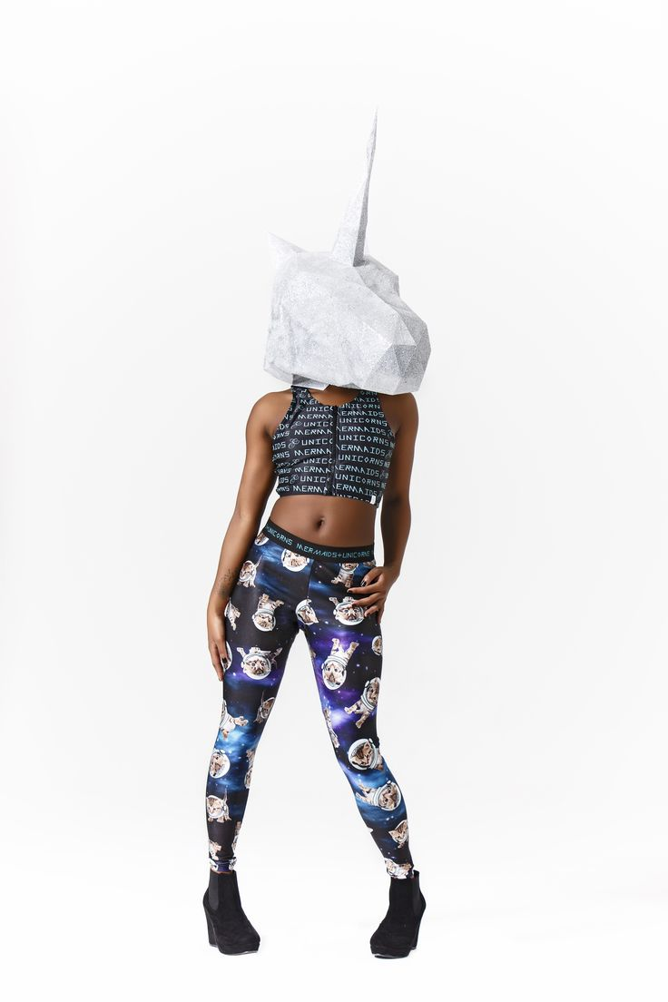 #mermaidsandunicorns Space Kitteh leggings #space #galaxy #kittens #leggings
