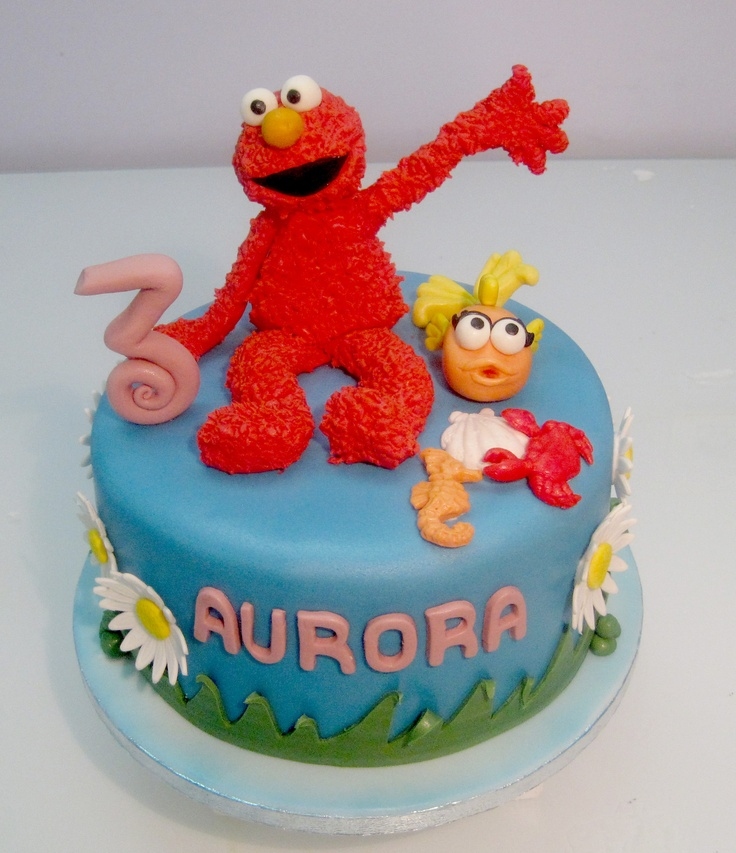 + images about Cakes - Elmo & Sesame Street on Pinterest | Elmo Cake ...