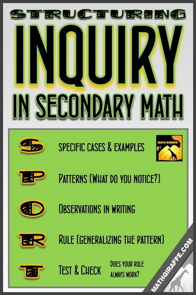 4 Major Benefits of Inquiry Lessons & How to Use Them to Help Your Math  Students Thrive - Math Giraffe
