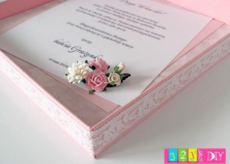 321 Start DIY: Komunijne pudełko z rózami