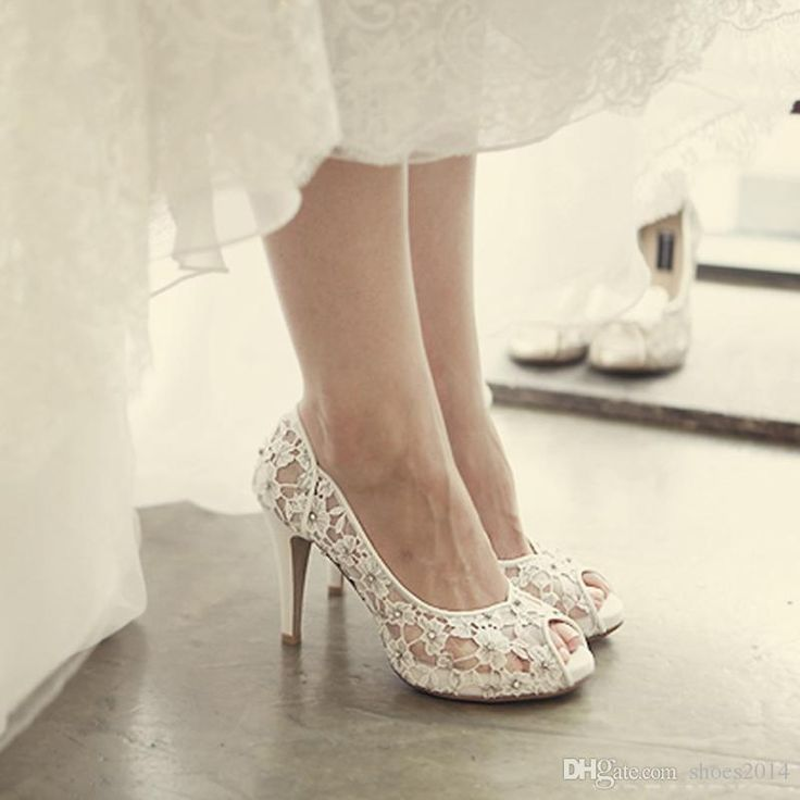 Bling Bling Flowers Wedding Shoes Pretty Stunning Heeled Bridal Dress Shoes Peep Toe White Lace Crystal Hand Crafted Prom Pumps Bridal Shoes Toronto Bridal Wedge From Shoes2014, $93.45| Dhgate.Com