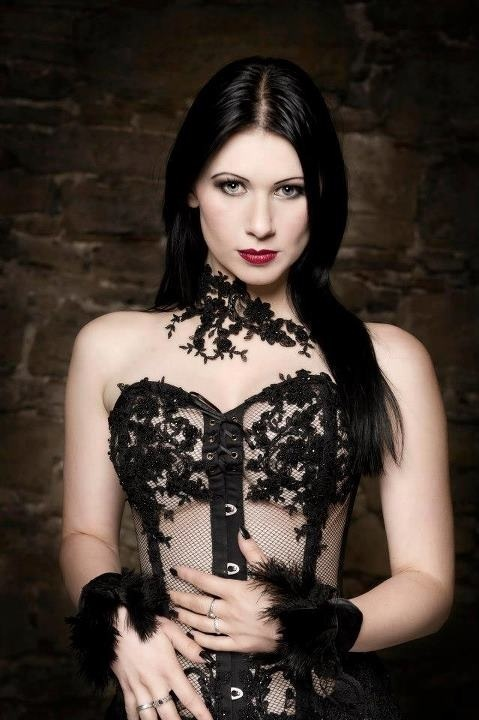 the most hottest naked gothic model women
