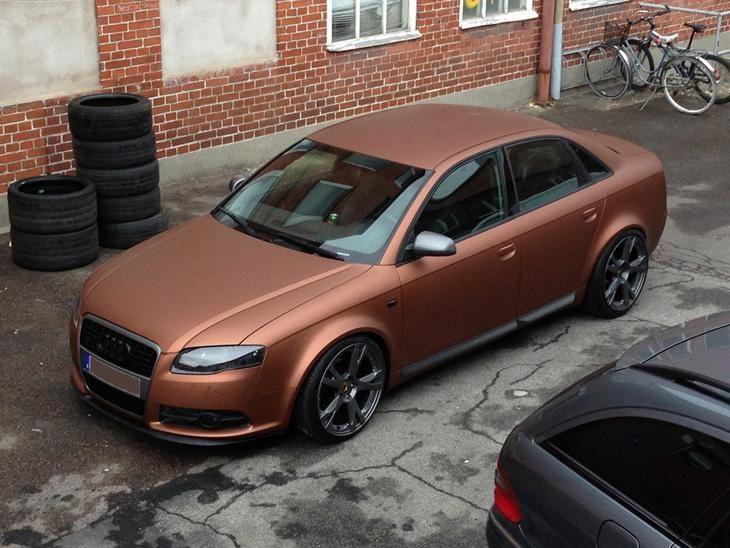 """Audi A4 B7 """"Audilicious* - 2006 - Bilen er """"født"""" blå. Blev ko..."""