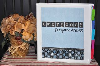 Chronicles of a Babywise Mom: Emergency Preparedness Binder