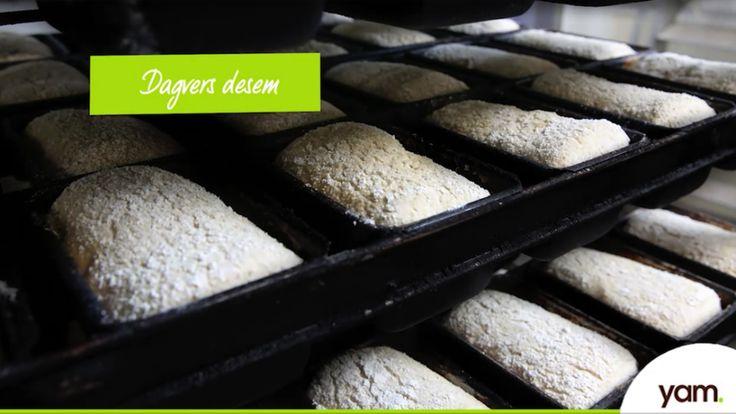 YAM desem: ons broodje zonder gluten, lactose, koemelk, suiker, gist, ei, soja, tarwe. Kijk hier hoe wij dat ieder dag vers bakken!