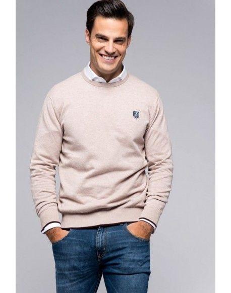 ef88e6cbb02ae Valecuatro jersey beige Liverpool Jersey Valecuatro hombre modelo Liverpool color  beige. Agradable jersey con cuello