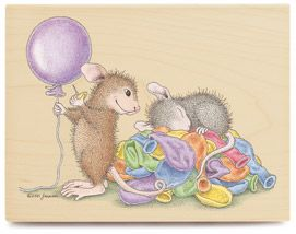 Pop-ular Fun - House-Mouse Rubber Stamp