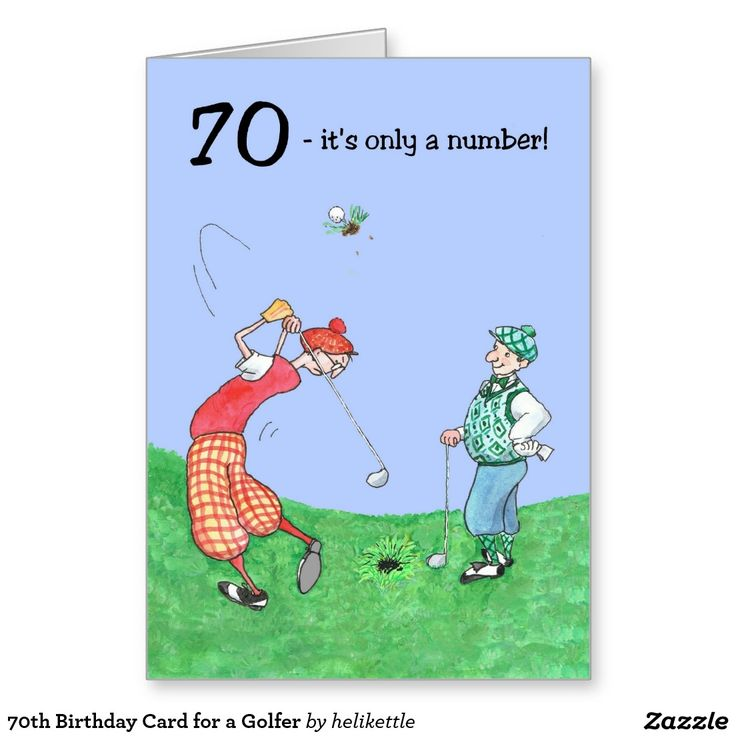 70th Birthday Card for a Golfer