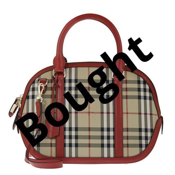 Burberry - Medium Orchard Check Bag in Burgundy