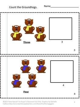 Groundhogs day is February 2. Tradition has it that the Groundhog can predict the weather. If the Groundhog sees his shadow, six more weeks of winter, if he doesn't spring is near. Students can practice their cut and paste skills, counting skills and number recognition with this Count the Groundhogs 1-12 cut and paste packet. Plus, they have a 12 page little book to take home and use again. .