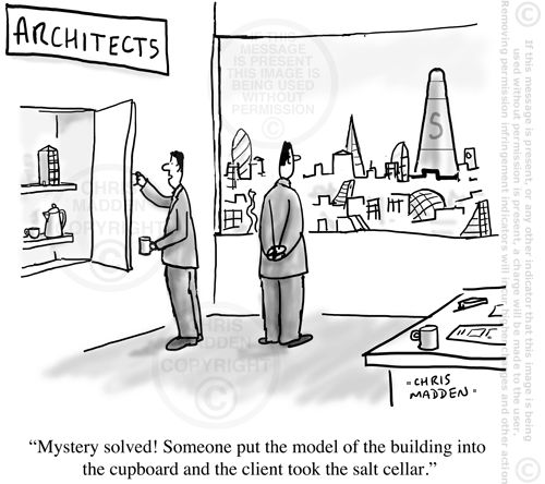 The Shard, London - Architecture cartoon by Chris Madden