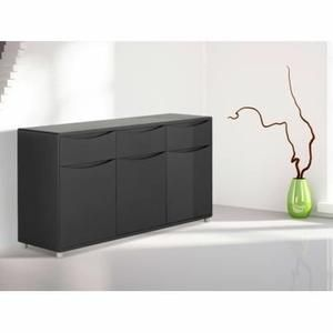 best buffet sorriso noir portes u tiroirs with enfilade conforama. Black Bedroom Furniture Sets. Home Design Ideas