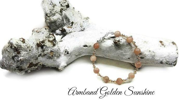 Armband Golden Sunshine | Exclusieve Edelsteen Armbanden | Beads Creations Kralen en Sieraden Maken