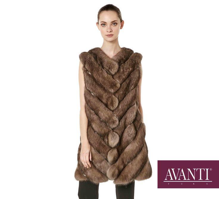 AVANTI FURS - MODEL: BERTILE 2 SABLE VEST #avantifurs #fur #fashion #fox #luxury #musthave #мех #шуба #стиль #норка #зима #красота #мода #topfurexperts