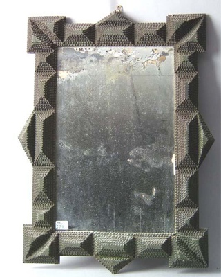 TRAMP ART: Frame  This piece of 19th century tramp art meets its strictest definition of this wildly diverse art form: made of discarded wood, constructed in layers and carved with decorative notched edges and (like most 19th century tramp art) it was likely made up of cigar boxes.
