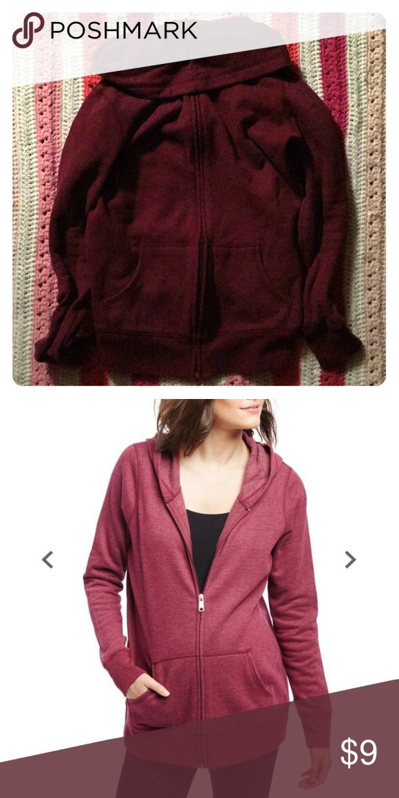 Maternity hoodie small Burgundy colored maternity hoodie from motherhood maternity size small.  EUC.  Very flattering.  Wore in my third trimester Motherhood Maternity Tops Sweatshirts & Hoodies