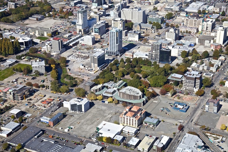 Victoria Square, Christchurch, New Zealand two years after the quakes.
