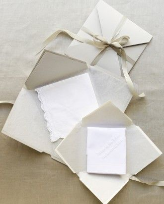 "See the ""Haute Hankies"" in our A Formal Wedding at Home in California gallery"
