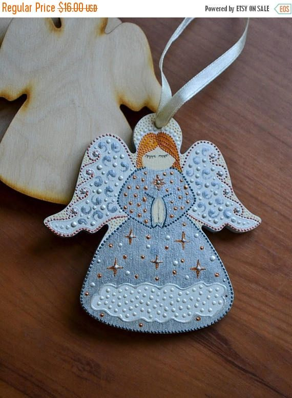 ON SALE Wooden angel Hand painted angel Сar accessories Golg // Товары для дома  Декор для дома  Украшения для дома  Christmas Trees  wooden angel  souvenir angel  christmas angel for baby room  hand painted angel  car accessories  girl boy  gold color  wood toys  personalised gift  first fathers day Christmas in july  Christmasinjuly
