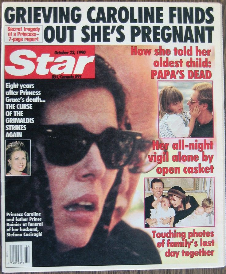 Star - Cover - October 23, 1990 - Princess Caroline after the tragical dead of Stefano Casiraghi