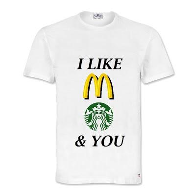 McD, Starbucks & You T-Shirt. size: S M L XL. Order: 087782342244 info@excelcy.com
