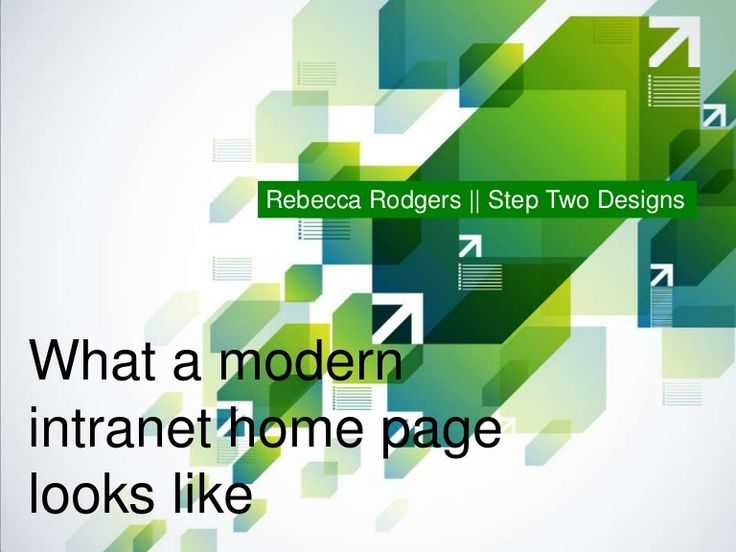 What A Modern Intranet Home Page Looks Like   Pages 1 16 Are Fluff But