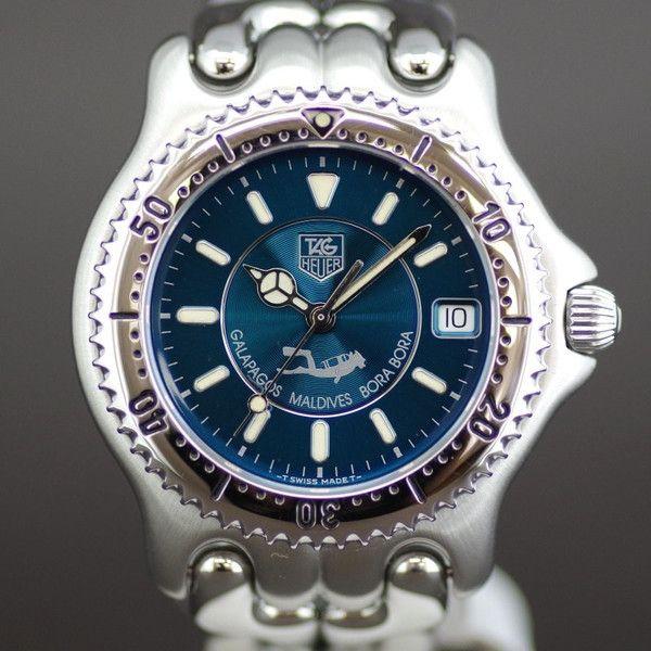 【中古】TAG HEUER(タグホイヤー) WG111K ガラパゴス モルジブ ボラボラ限定 レア クオーツ SS メンズ ブルー文字盤青時計/2000本限定モデル。 深い海のような文字盤の色が素敵な一品です。/新品同様・極美品・美品の中古ブランド時計を格安で提供いたします。