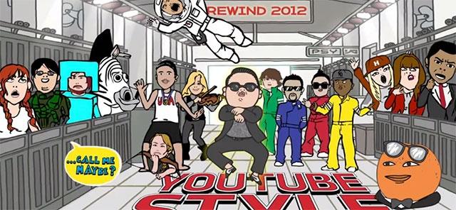 Le Rewind Youtube 2012, avec Psy (Gangnam Style)