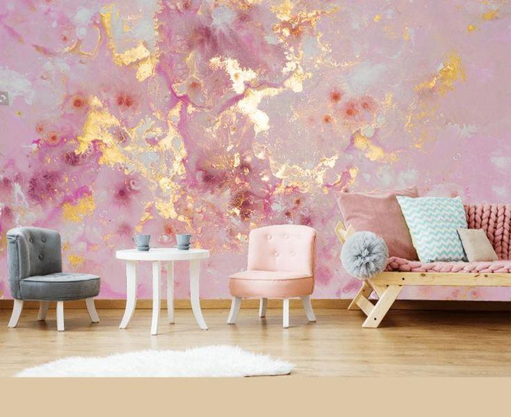 Extra große *** rosa lila gold Marmor *** Tapete Wandaufkleber Dekor Decke Wandaufkleber exklusives Design