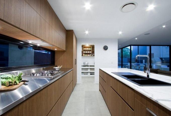 Entrant- Garsden and Clarke. Month- October. Products used- Laminex Timber Veneer and Laminex Timber Veneer FDTV spotted gum.
