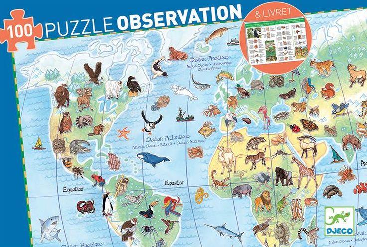 Puzzle monde dès 5 ans