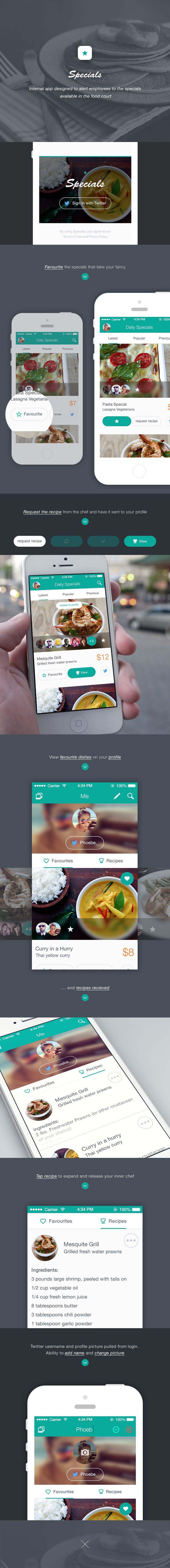 Daily Specials app project by Ben Dunn
