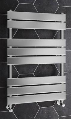 Brenton Sundoro Chrome Straight Heated Designer Towel Rail - H800 X W500mm